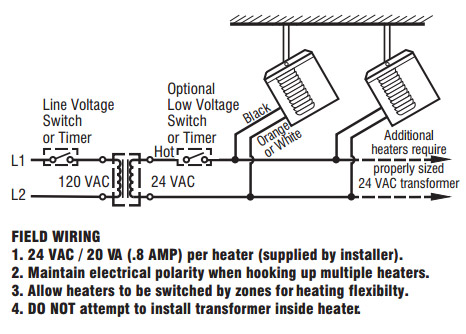 tech sunpak2 s25 34 sunpak s25 & s34 models sunglow industries, inc infratech heaters wiring diagrams at mr168.co
